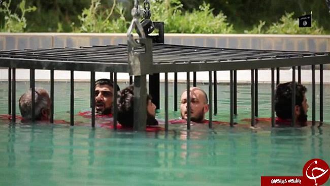 شیوه جدید اعدام داعش + تصاویر