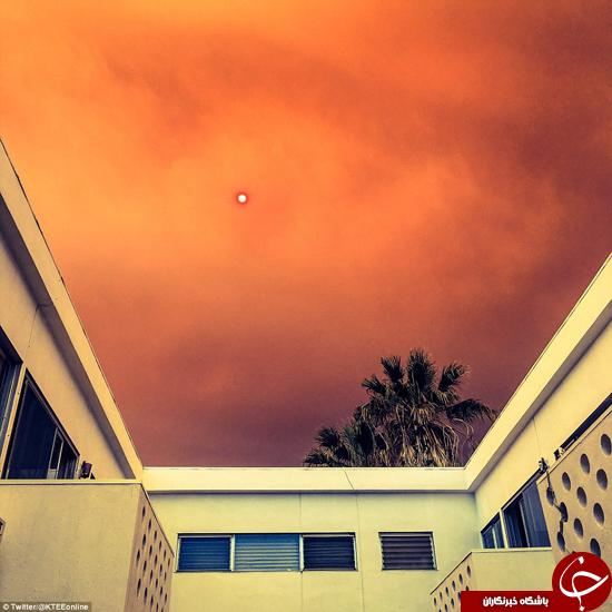 لس آنجلس پوشیده شده در دود و خاکستر +تصاویر