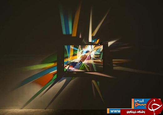 عکس/ طراحی داخلی؛ نورپردازی با شیشه رنگی!