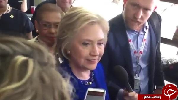 هیلاری کلینتون واقعا مقابل دوربین تشنج کرد؟+ تصاویر و فیلم