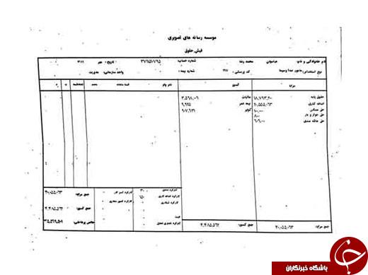 دو فیش حقوقی از دو مدیر دولت احمدینژاد منتشر شد +عکس