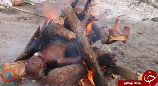 مراسم سوزاندن مردگان در آیین هندو +تصاویر (۱۸+)