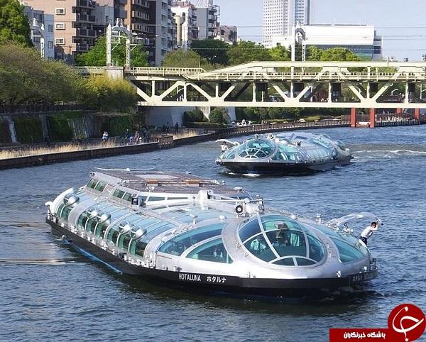 اولین اتوبوس آبی در کشور چین + تصاویر