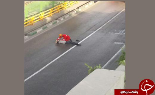 خودکشی مرد 60ساله از روی پلی در مشهد+تصاویر