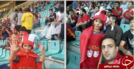 تنها خانمی که در بازی پرسپولیس در ورزشگاه تختی بود +تصاویر