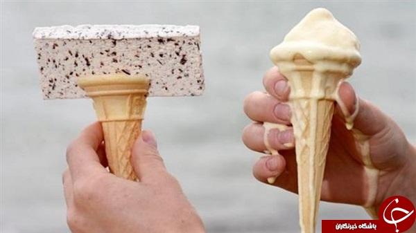 این بستنی دیگر آب نمیشود + تصاویر