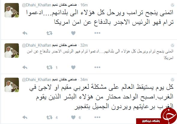 ضاحی خلفان: عراقی ها و بحرینی ها به احمدی نژاد و قاسم سلیمانی افتخار می کنند/ جهان هر روز با مشکل آفرینی یک عرب پناهنده در غرب از خواب بر می خیزد
