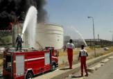 باشگاه خبرنگاران - آتش سوزی در پتروشیمی بیستون همچنان ادامه دارد + فیلم