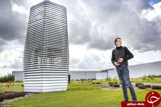 دستگاه تصفیه هوای غولپیکر، راه حل کاهش آلودگی +تصاویر