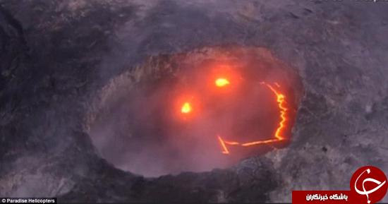 لبخند آتشفشان به زمین +تصاویر