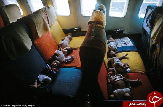هواپیماهایی با مسافران خردسال +تصاویر