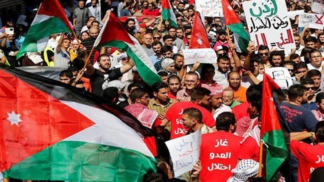تظاهرات اردنیها در اعتراض به قرارداد گازی با اسرائیل