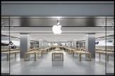 باشگاه خبرنگاران - مرد مهاجم فروشگاه اپل را به هم ریخت +تصاویر