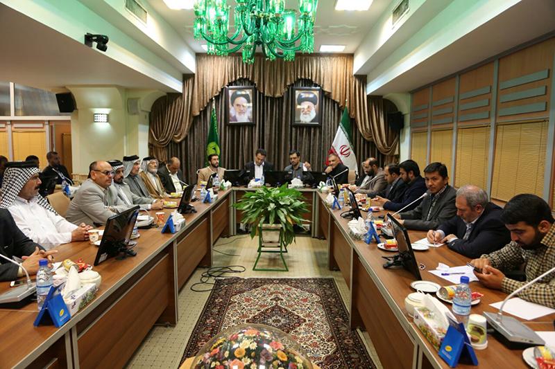 گردهمایی موکب داران عراقی و ایرانی در حرم مطهر رضوی