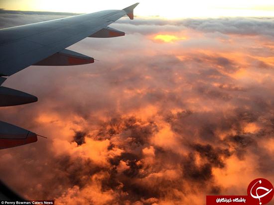 آسمان در آتش +تصاویر