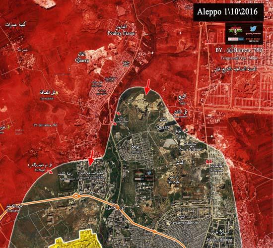 پیشروی های ارتش سوریه در