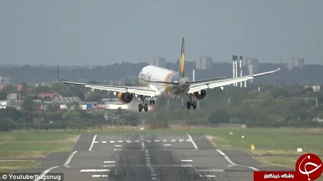 لحظات هولناک فرود هواپیما در انگلیس +فیلم