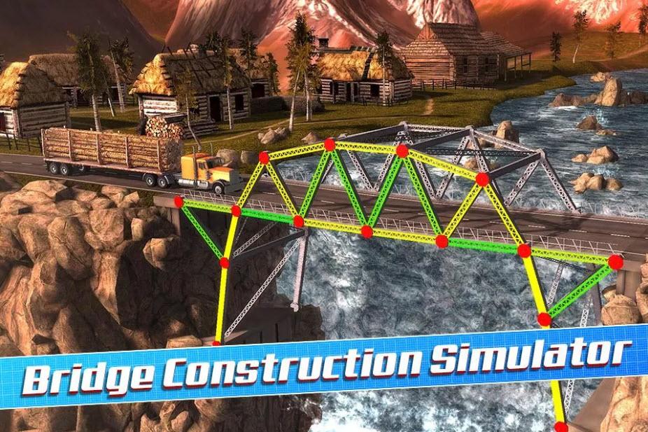 دانلود بازی فکری شبیه سازی پل Bridge Construction Simulator