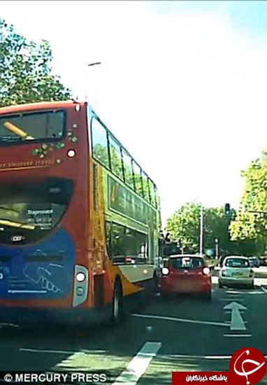 بیدقتی راننده فقط در ایران اتفاق نمیافتد +تصاویر