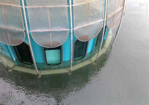 عکس/ کافهای که مشتریانش را به زیر آب میبرد