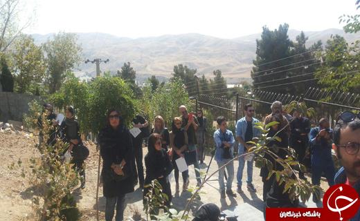 گردهمایی هنرمندان در مزار عباس کیارستمی