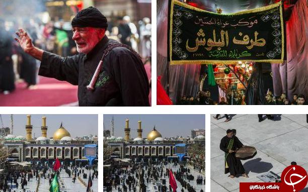 تصاویری از هیئتهای عزاداری حسینی در کربلای معلی