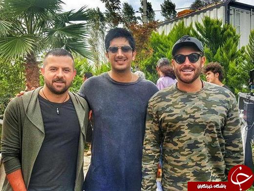 عکس/ محمدرضا گلزار، فرزاد فرزین و هومن سیدی پشت صحنه «عاشقانه»
