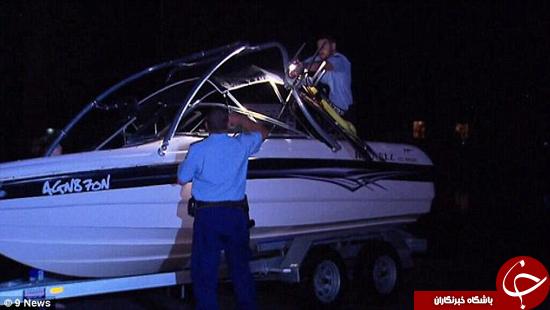 برخورد جت اسکی با قایق جان زن را گرفت +تصاویر