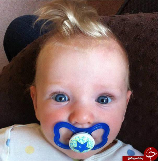 کودکانی با عجیب ترین مدل های مو متولد شده اند