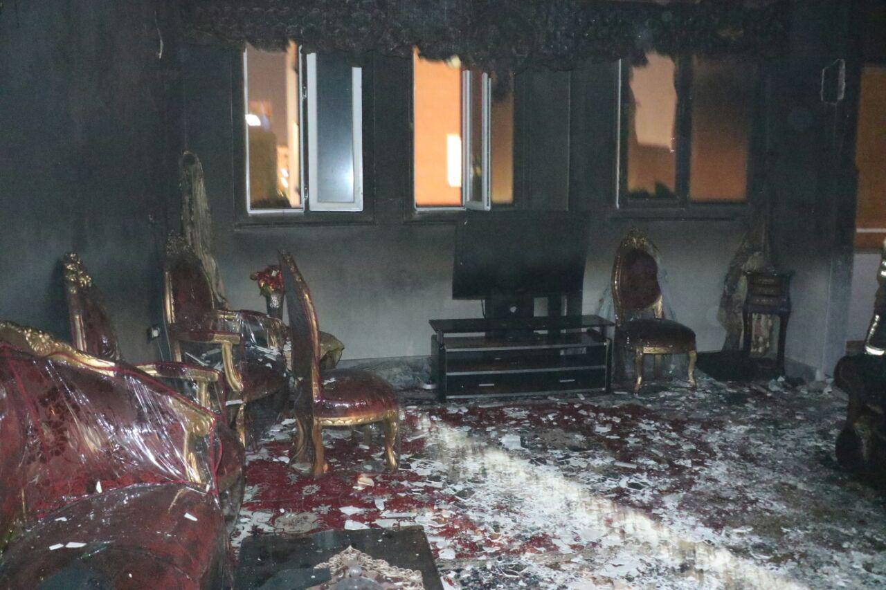 واحد مسکونی طعمه آتش شد + تصاویر