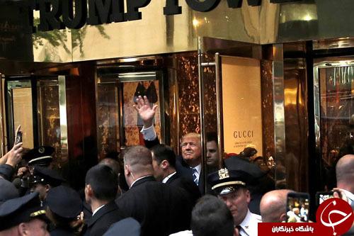 تجمع هواداران ترامپ مقابل برج منهتن+ تصاویر
