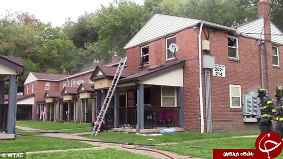 بچه 4 ساله خانه را به آتش کشید +تصاویر