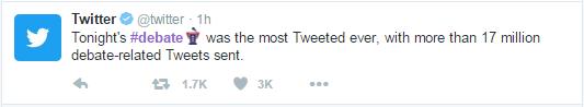 17 میلیون توییت برای دومین مناظره