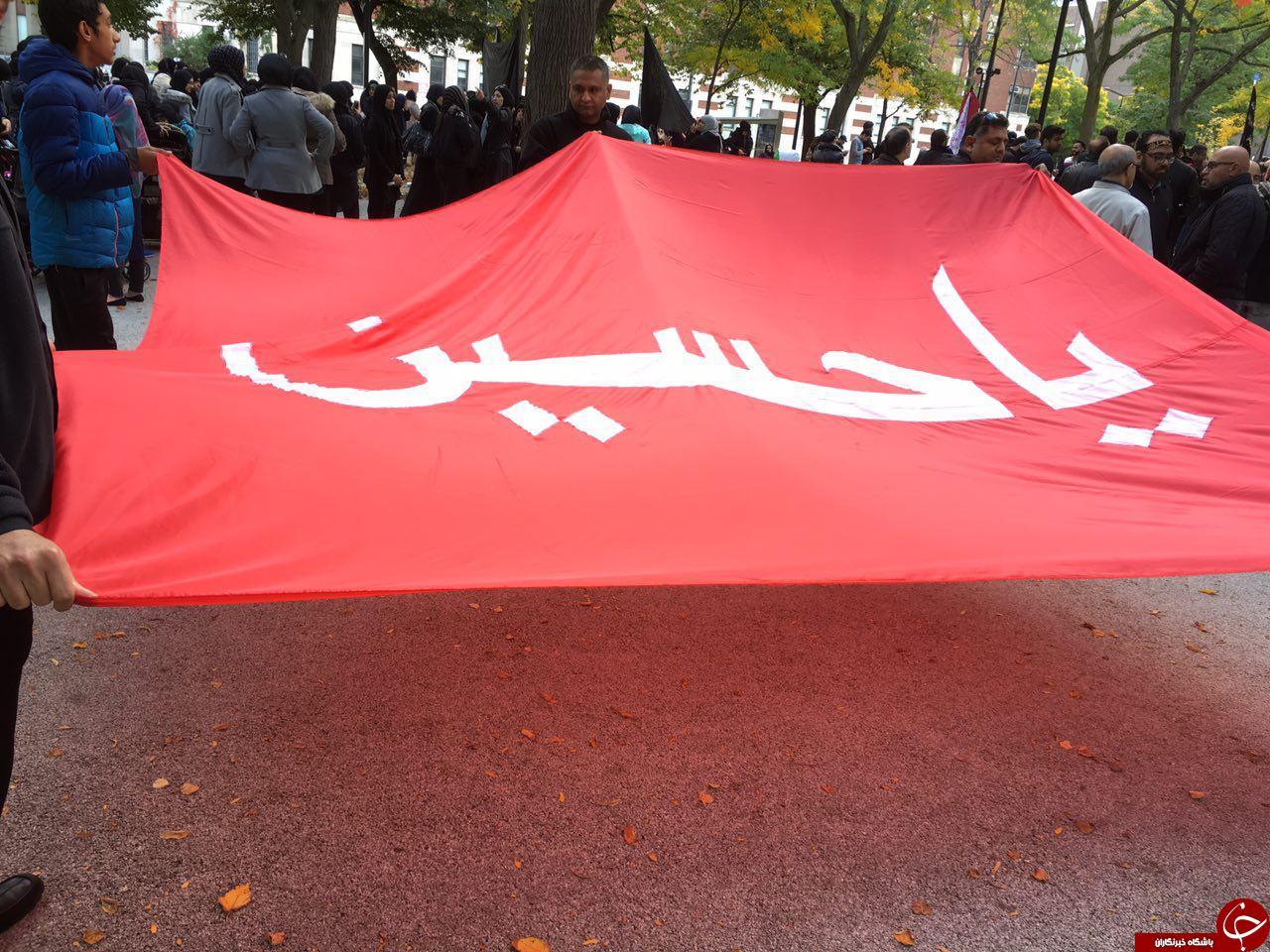 مراسم عزاداری امام حسین(ع)در مونترال + فیلم