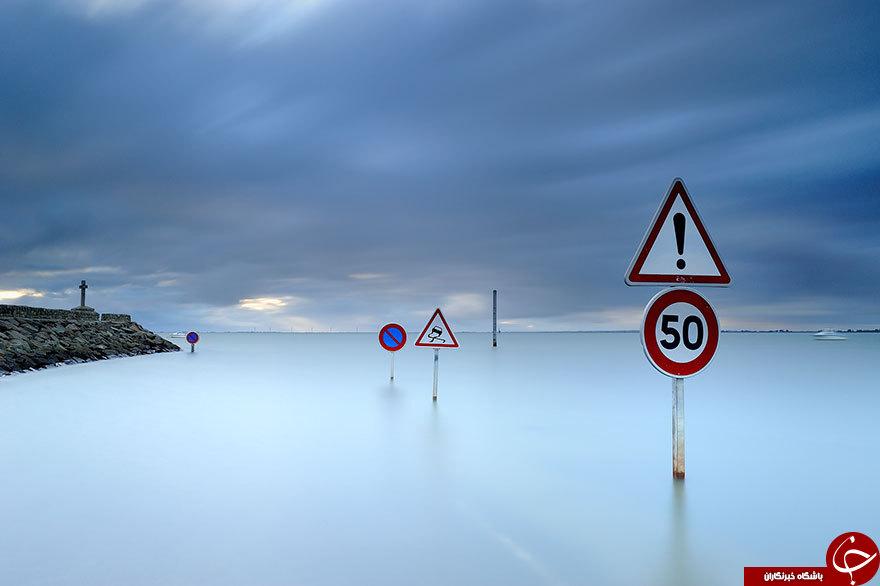 جادهای در فرانسه که روزی دو بار ناپدید میشود