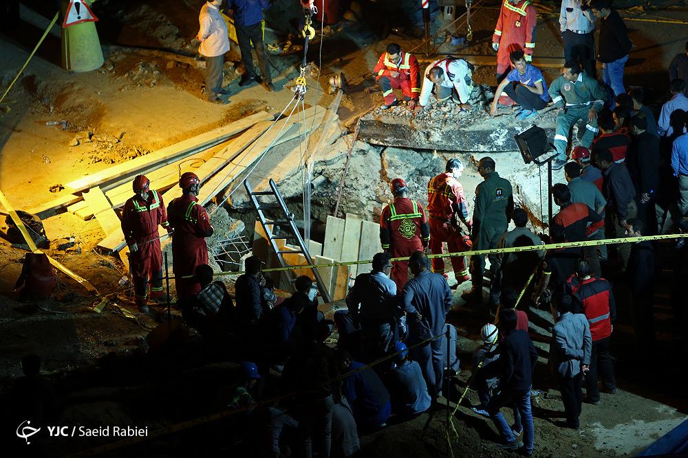 دو کشته در ریزش تونل مترو در میدان قیام تهران