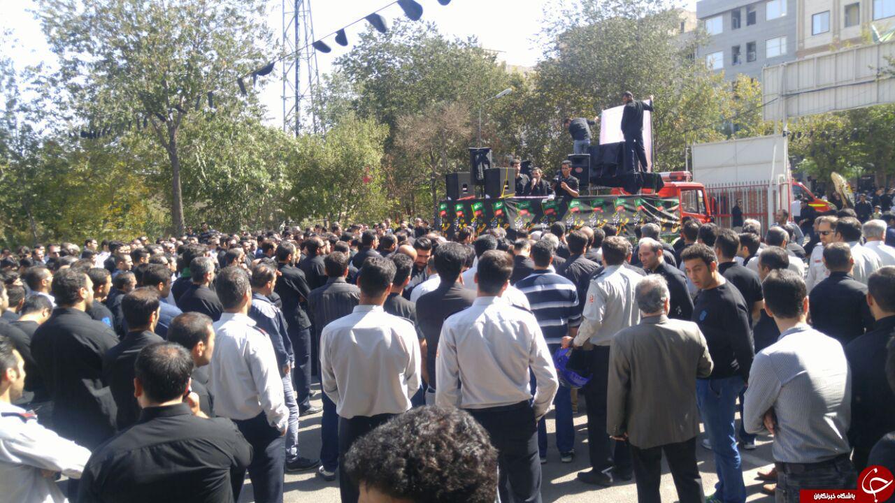 مراسم تشییع پیکر آتشنشان «شهید مهدی حاجیپور» + تصاویر