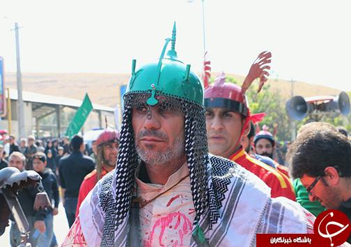 فارس یکپارچه سیاهپوش در عزای حسین + تصاویر