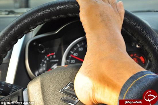 راننده بی دست +تصاویر
