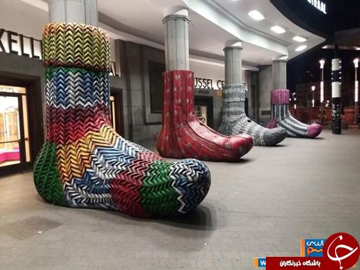 عکس/ این جورابها، جاذبه توریستی