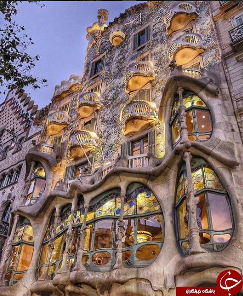ساختمانی که به شکل اژدها دیده می شود+تصاویر