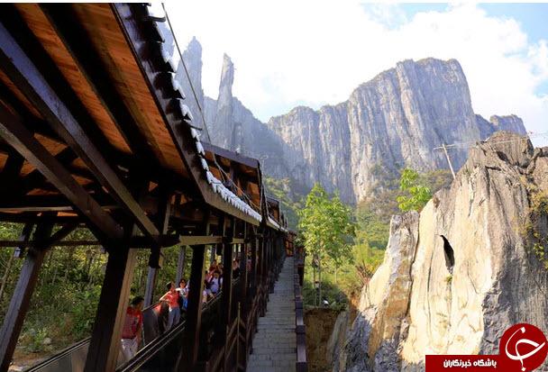 طولانی ترین پله برقی جهان در چین + تصاویر