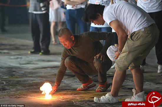 بزرگترین هنرمند آتشبازی جهان و کارهایش +تصاویر
