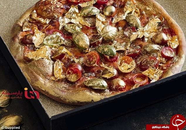 پیتزا با طعم طلای ۲۴ عیار! +عکس