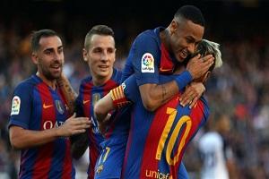 بارسلونا 4 دیپورتیوو لاکرونیا 0/مسی با گل بازگشت