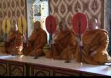 باشگاه خبرنگاران - مراسم جالب بودایی در آیین بزرگداشت پادشاه تایلند + فیلم
