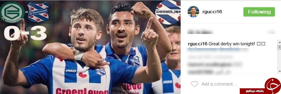پست اینستاگرامی رضا قوچان نژاد، بعد از گلزنی و پیروزی در دربی+اینستاپست