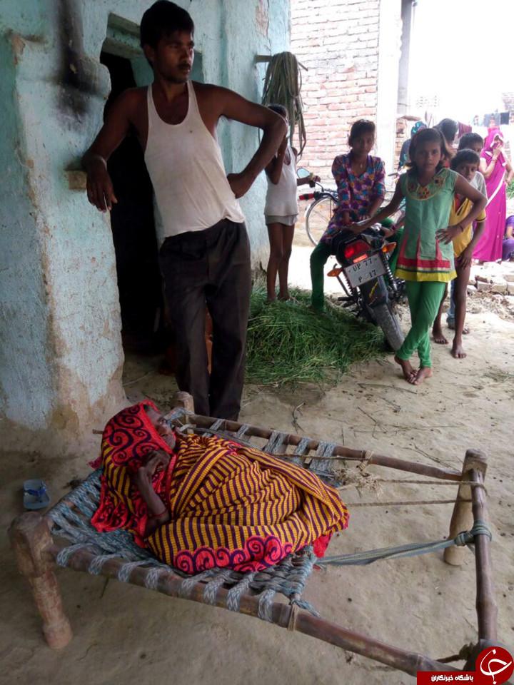 تغییر بدنی عجیب زن هندی بعد از زایمان سوم+تصاویر