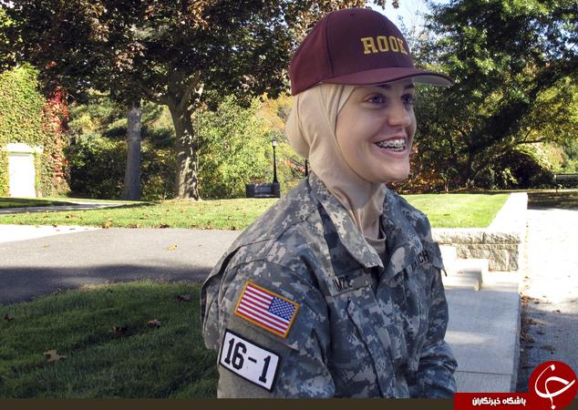 اولین دختر مسلمان در کالج نظامی آمریکا +تصاویر