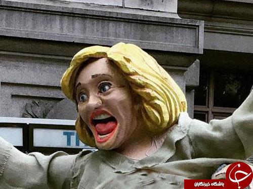 مجسمه نامتعارف کلینتون در نیویورک دردسرآفرین شد+ تصاویر
